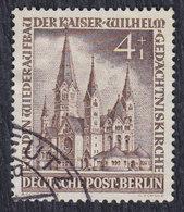 Germany Berlin 1953 Kaiser Wilhelm Memorial Church, 4+1 PF, Used (o) Michel 106 - Oblitérés