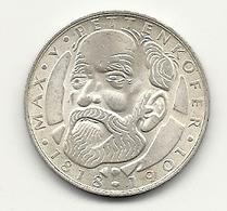 5 DM Silbergedenkmünze, 1968, 150. Geb. Max Von Pettenkofer, Bankfrisch - [10] Gedenkmünzen