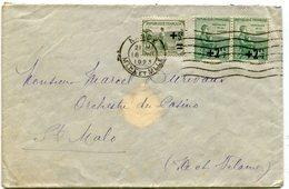 MEURTHE ET MOSELLE De NANCY Env. Du 18/07/1923 Avec 2ième Série Orphelins N°163x2 Et N°164 - Marcophilie (Lettres)