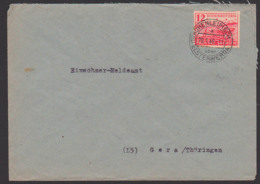 Hohenleipisch üb. Elsterweda Bodenreform 12 Pf. SBZ 86, Fernbrief Nach Gera, Bauer Mit Pflug, Acker Und Pferde 29.1.46 - Sovjetzone