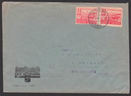 Porto-Ersttag Osterburg (Altmark) Bodenreform SBZ 86(2), Fernbrief Einwinkel Bauer Mit Pflug, Acker Und Pferde 1.3.46 - Sovjetzone