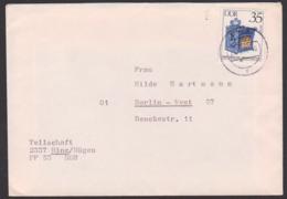 Historische Briefkästen 35 Pf. DDR 2926 Aus Binz / Rügen Nach Berlin-West, Auslandsbrief, Portogenau - DDR