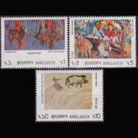 BANGLADESH 1986 - Scott# 275-7 Paintings Set Of 3 MNH - Bangladesh