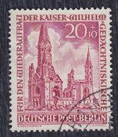 Germany Berlin 1953 Kaiser Wilhelm Memorial Church, 20+10 PF, Used (o) Michel 108 - Oblitérés