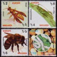 BANGLADESH 2000 - Scott# 608-11 Insects Set Of 4 MNH - Bangladesh