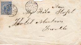 12 JUN 94 Envelopje Met Kleinrond AMSTERDAM 12 Naar Zwolle - Periode 1891-1948 (Wilhelmina)