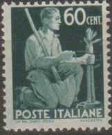 Italia 1946 Democratica 60c. Sa 548 MNH - 6. 1946-.. Repubblica