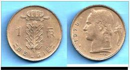 PIECE BELGIQUE DE 1 FR 1975 - 1951-1993: Baudouin I