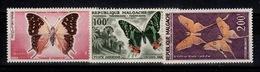 Madagascar - Poste Aerienne YV PA 80 à 82 N** Papillons - Madagascar (1960-...)