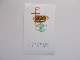Devotieprent : Plechtige Communie Marie-Jeanne En Martine DECLERCK Assebroek 10 Juni 1965 - Communion