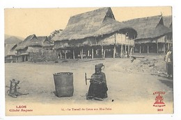 LAOS - HUA-PAHN - Le Travail Du Coton   ## TRES  RARE ##   L 1 - Laos
