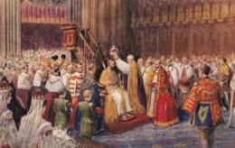 AS04 Royalty - The Coronation - Salmon Artistic Postcard - Royal Families