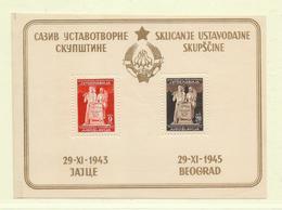 YOUGOSLAVIE  ( EU - 279 )  1945 N° YVERT ET TELLIER  N° 2  N** - Blocs-feuillets