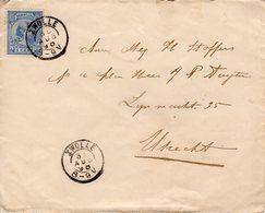 30 AUG 98 Envelopje Met Kleinrond ZWOLLE Naar Utrecht - Periode 1891-1948 (Wilhelmina)