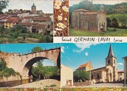Carte 1970 SAINT GERMAIN LAVAL / MULTIVUES - Saint Germain Laval