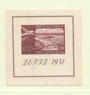 YOUGOSLAVIE  ( EU - 282 )  1951 N° YVERT ET TELLIER  N° 4  N** - Blocs-feuillets