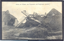 PILKEM - Mühle Vor Pilkem , Von Franzosen Und Engländern Zerstört (Feldpost) - Ieper