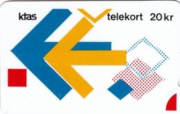 DENMARK - Puzzle 8/9 Version,Ktas Definitive 20 Dkr, CN:02077365 ,12/86, Tirage 2.500, Used - Denmark