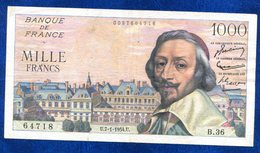 BILLET 1000FR 7-1-1954U B36 - 1871-1952 Anciens Francs Circulés Au XXème