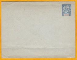 GUYANE - France - Entier Postal Enveloppe  15 C Gris Type Groupe Non Utilisé - Pliure Horizontale - Guyane Française (1886-1949)