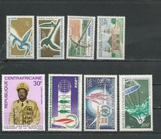 CENTRAFRIQUE  Scott 106, 107-8, C51, C52, C53, C56 Yvert 108, 109-1, PA54, PA55, PA56, PA53 ** (8) Cote 14,25 $ 1968 - Centrafricaine (République)