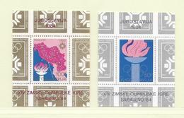 YOUGOSLAVIE  ( EU - 300 )  1984  N° YVERT ET TELLIER  N° 23/24  N** - Blocs-feuillets