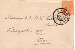 30 Nov 99 Lokaal Envelopje Met NVPH34 Van Amsterdam - Periode 1891-1948 (Wilhelmina)