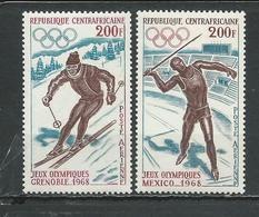 CENTRAFRIQUE  Scott C54-C55 Yvert PA57-PA58 ** (2) Cote 11 $ 1968 - Centrafricaine (République)