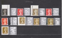 №10  Specialised Selection Of Harrison/De La Rue NVIs(1st) Machin Stamps - Série 'Machin'