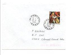 OBLITERATION DE CHABRIS INDRE 1989 - Marcophilie (Lettres)