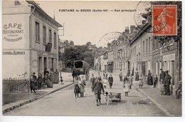 Fontaine Le Bourg : Rue Principale - Voiture à Chiens - France