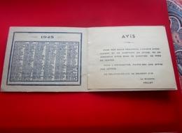 WW2 1945 Calendrier Petit Format-Publicité Aigle France Marseille R Des Dominicaines-pub Avis Recherche Usage Perso-Lire - Kalenders