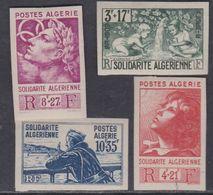 Algérie N° 249 / 52 Nd X Emis Au Profit Des Oeuvres De Charité , Variété : Non Dentelé, Les 4 Valeurs Trace Ch, SinonTB - Ongebruikt