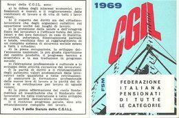 """1775 """" TESSERA SINDACATO CGIL - 1969"""" DOCUMENTO ORIG. - Non Classificati"""