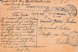 Marseille - Cachet Hôpital N° 109 - Sur Cpa Du Palais De La Mer - Guerre De 1914-18