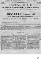 CATALOGUE DE GRAINES DE FLEURS & PLANTES POTAGERES VENDUES A PARIS EN 1870 - Agriculture