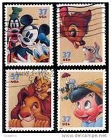 Etats-Unis / United States (Scott No.3865-68 - Personnage De / Disney / Characters) (o) Série De 4 / Set Of 4 - Verenigde Staten