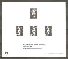 """Epreuve LA POSTE 1996. Timbres D'usage Courant. """" Emission Du 18 Mars 1996 """". MARIANNE DU BICENTENAIRE. - 1989-96 Marianne Du Bicentenaire"""