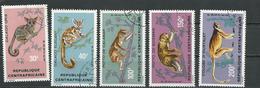 CENTRAFRIQUE  Scott 142-146 Yvert 150-154 O (5) Cote 8,20 $ 1971 - Centrafricaine (République)