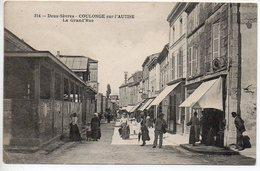 Coulonges Sur L'Autise (Autize) : La Grand'rue - Coulonges-sur-l'Autize