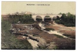 Montpellier :   Les  Bords  Du  Lez....  Carte  Colorisé  Et  Toilée ... ! - Montpellier