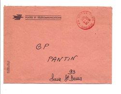 OBLITERATION DE SERVICE POSTE RESTANTE LILLE 1976 - Marcophilie (Lettres)