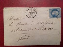 1853 GC 698 Chalabre Pour Comte D' Avejan Château De SAUVE - Marcophilie (Lettres)