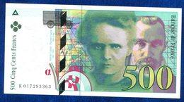 BILLET 500FR CURIE 1994 TTB+++++++ - 1992-2000 Dernière Gamme