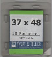 Paquet De 50 Pochettes Noires Hawid Double Soudure Format 37 X 48 à - 50% - Bandes Cristal