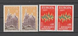 FRANCE / 1972 / Y&T N° 1714/1715 ** : Europa (2 TP En Paires) - Gomme D'origine Intacte - France