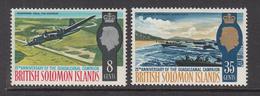 1967 Solomon Islands 25th Anniv Guadalcanal Campaign Aircraft And Boats Set Of 2 MNH - Salomoninseln (Salomonen 1978-...)