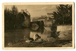 CPA 48 Lozère Mende Pont Notre-Dame Animé Lavandières - Mende