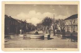 Cpa Saint Martin De Crau - Avenue D'Arles - France