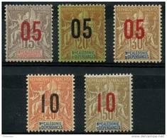 Nouvelle Caledonie (1912) N 105 à 109 * (charniere) - Nouvelle-Calédonie